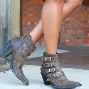 """Old Gringo """"Roxy"""" Short Boot in Rust"""